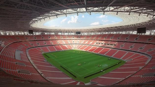 Стадион в Будапеште может принять 68 тысяч болельщиков