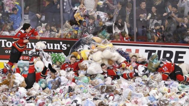 Плюшевые медведи на льду/Фото  All About Hockey