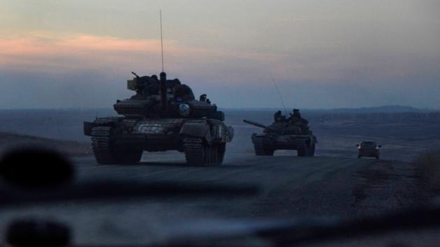 Танки боевиков на Донбассе