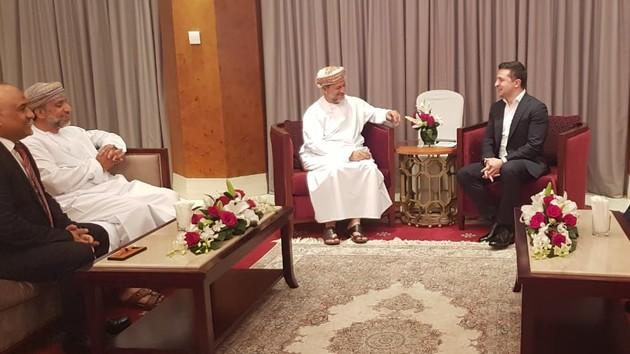 Володимир Зеленський провів зустріч з виконавчим президентом Державного генерального резервного фонду Султанату Оман Абдулсаламом аль-Муршиді