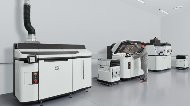 Лінія 3D-друку HP Jet Fusion 5210.
