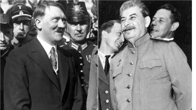 Адольф Гітлер та Йосип Сталін