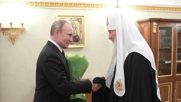 Владимир Путин и патриарх Московский Кирилл