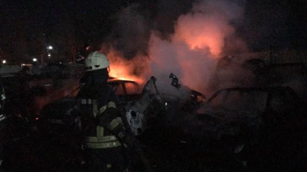 В Одессе на штрафплощадке вспыхнул пожар