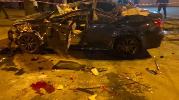 В Харькове Lexus столкнулся с патрульными: пятеро пострадавших (фото)