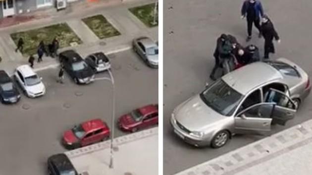 «Похищение» мужчины на Дарнице: «ЧП» оказалось спецоперацией полиции (видео)