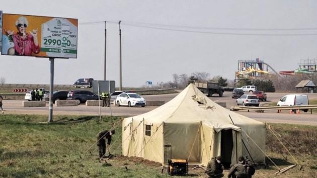 На въезде в Харьковскую область установили карантинные блокпосты