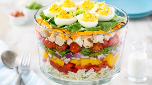 Как сделать красивый слоеный салат на Пасху