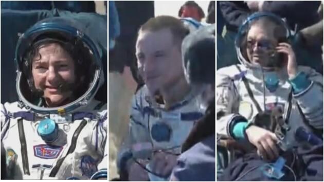 В разгар пандемии с МКС вернулись трое астронавтов: видео