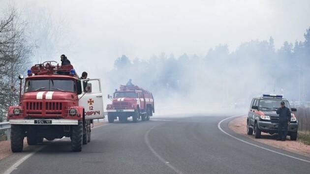 В Житомирской области возник новый лесной пожар