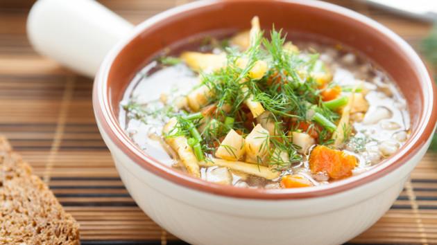 Как сварить сытный гречневый суп с мясом