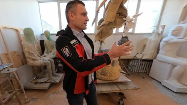 Кличко показал, как будет выглядеть скульптура хранителя Киева на новом городском фонтане (видео)