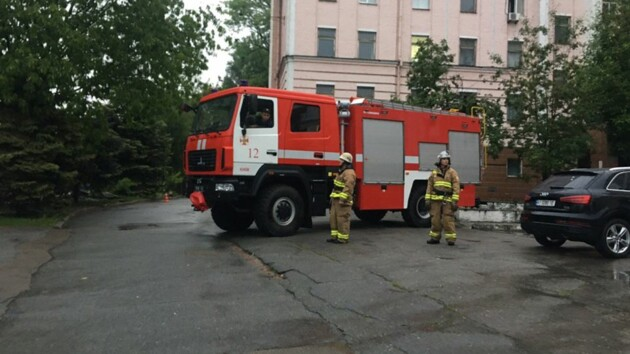 В Киеве горела Александровская больница