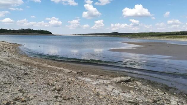 В Крыму вместо водохранилища осталась лужица (фото)
