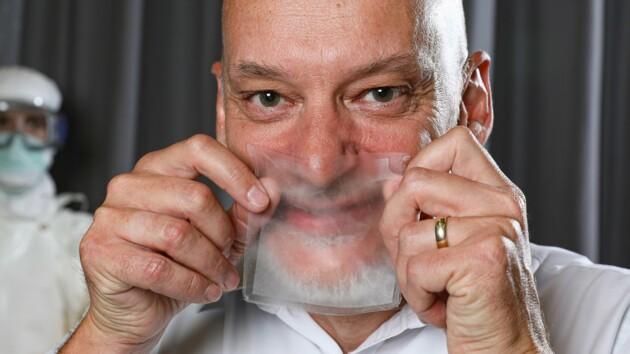 Ученые создали прозрачную маску против коронавируса: фото