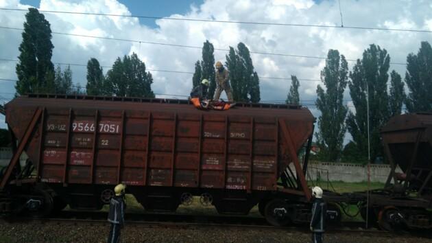 В Киевской области от удара током  на крыше поезда погиб подросток