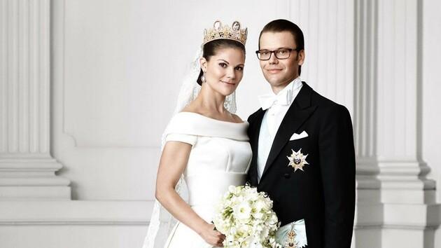 Шведская принцесса Виктория обнародовала архивные свадебные фото