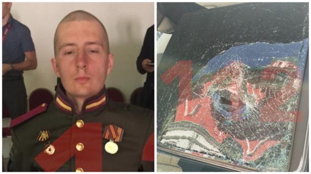 На параде в Москве солдат-срочник напал на машину спецслужб: появилось видео