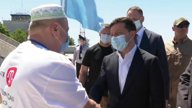 Зеленский прибыл в Херсонскую область: видео