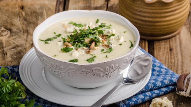 Как сделать сырный суп-пюре с курицей и цветной капустой