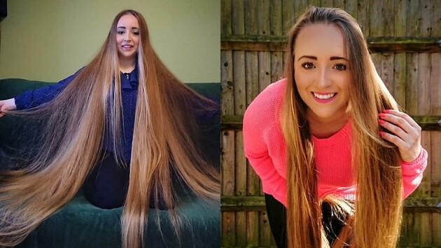 Полячка показала на фото свои 158-сантиметровые волосы