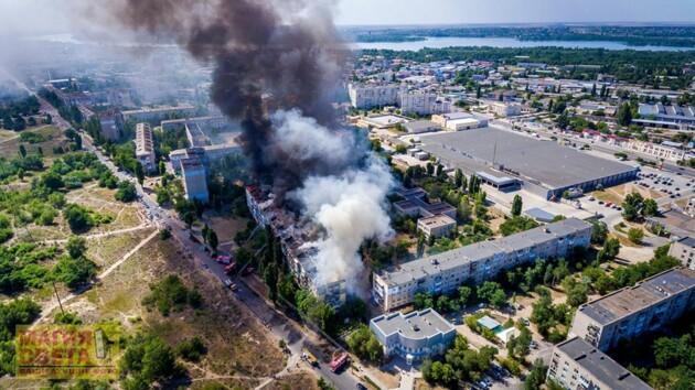 Масштабный пожар в Новой Каховке: суд отпустил подозреваемого домой