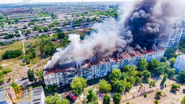 Масштабный пожар в Новой Каховке: задержанному сообщили о подозрении
