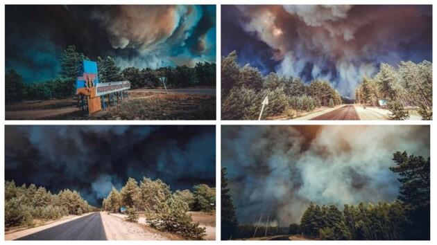 Адский ад: появились новые фото и видео пожара в Луганской области