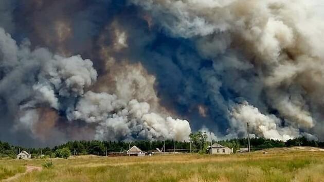 Несколько очагов и пропавший без вести: новые детали о пожарах в Луганской области