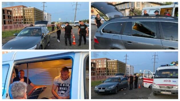 Разборки в Ужгороде закончились стрельбой: фото и видео