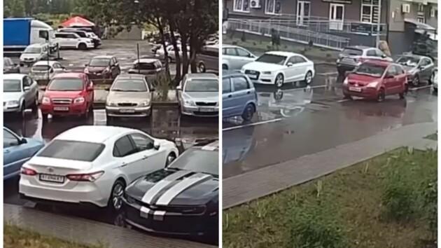 На столичных Позняках произошла стрельба (видео)