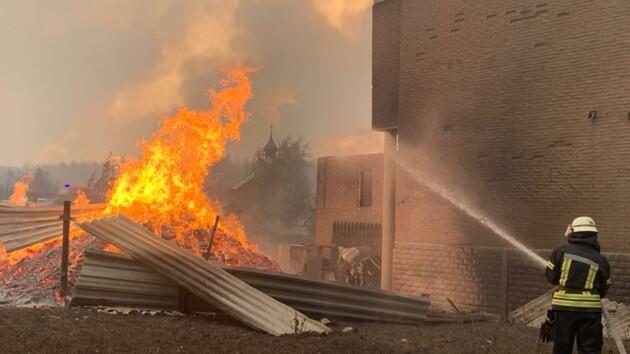 Пожар в Луганской области: появились новые фото и видео ликвидации