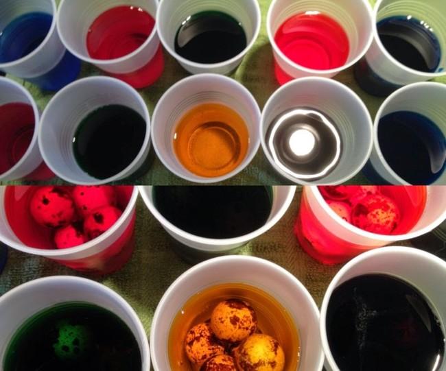 Используйте для окрашивания одноразовые стаканчики