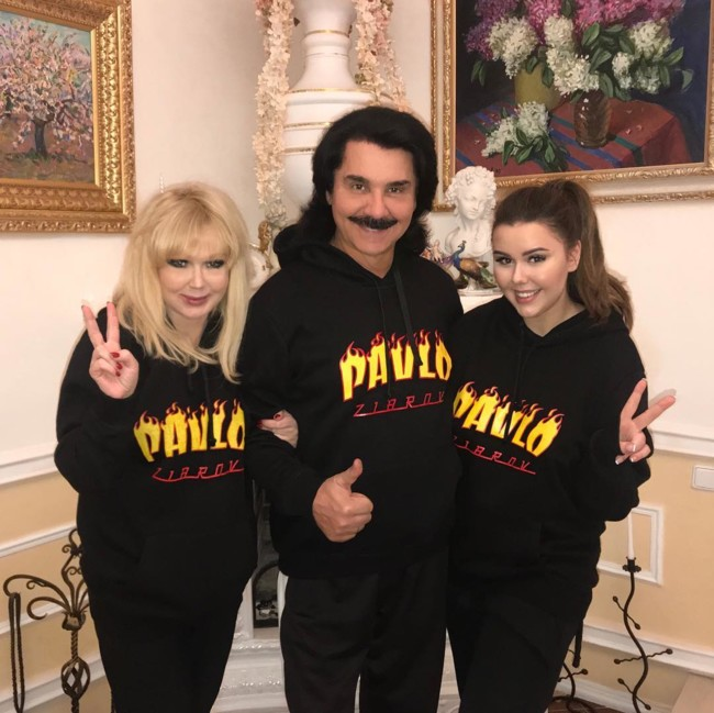 Павел Зибров с женой Мариной и дочерью Дианой