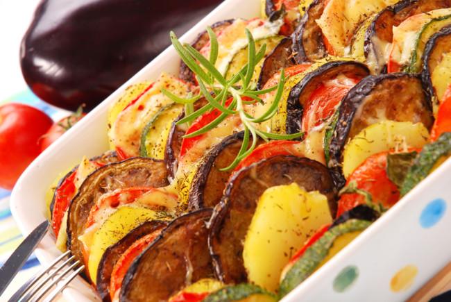 Запеканка из овощей в духовке без мяса