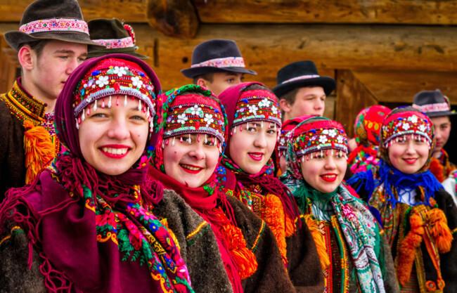 Колядки на Рождество по-украински