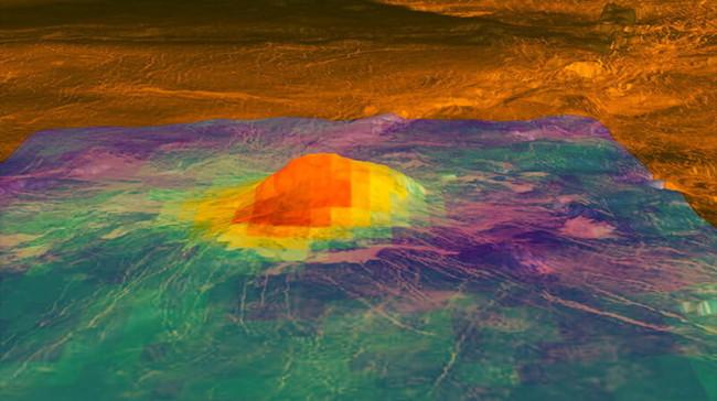 Компьютерное моделирование действующего вулкана Ридус на Венере