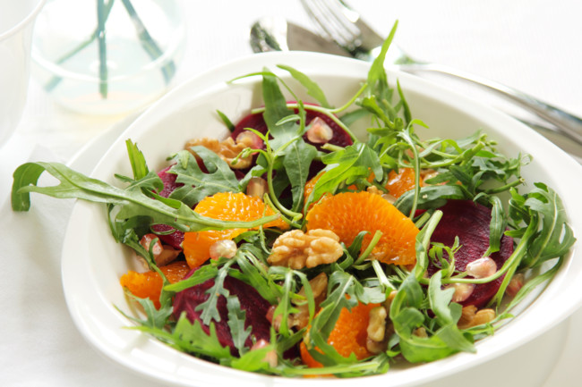 Салат из свеклы и апельсинов