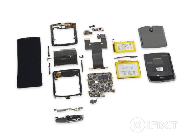 Все внутренности Motorola Razr
