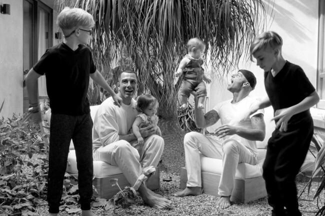Рики Мартин со своей семьей