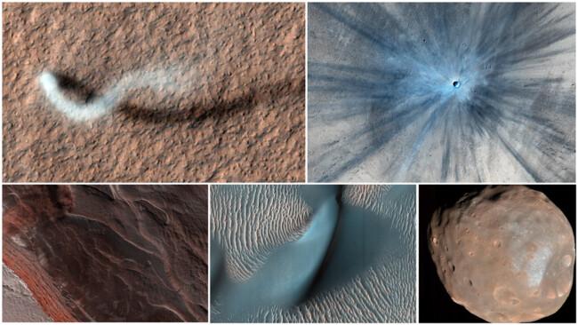 Коллаж из лучших фотографий с Марса за последние 15 лет