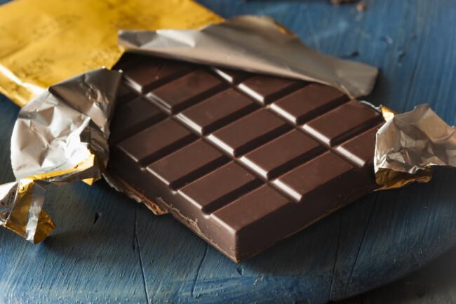 Хороший шоколад имеет красивый блеск
