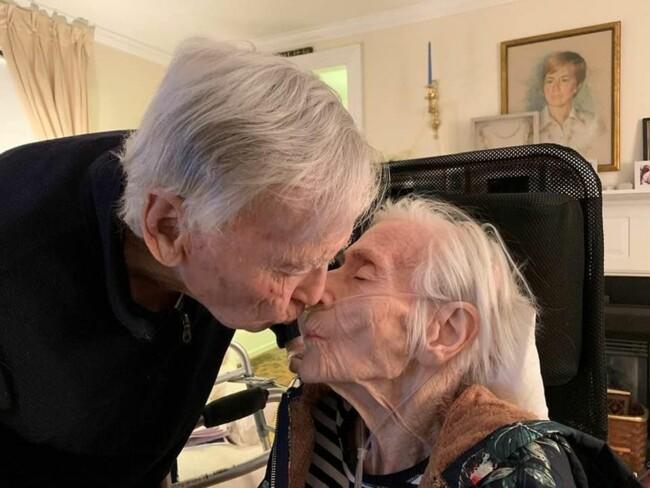 Возлюбленные прожили в счастливом браке 69 лет