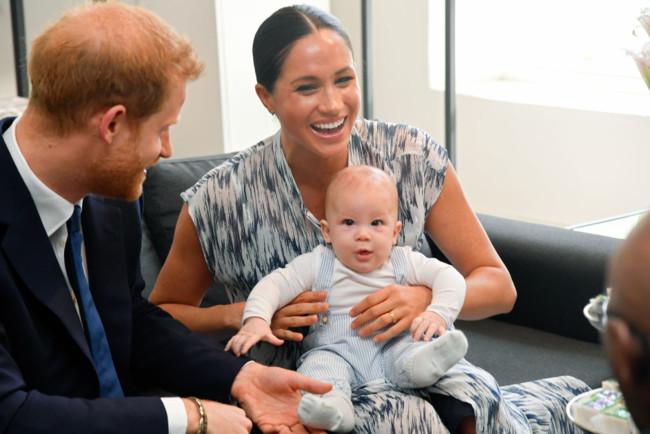 Принц Гарри с Меган Маркл и сыном Арчи