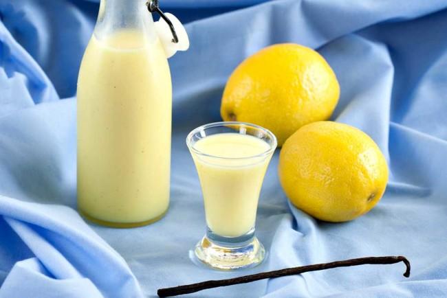 Крем-лимончелло с молоком