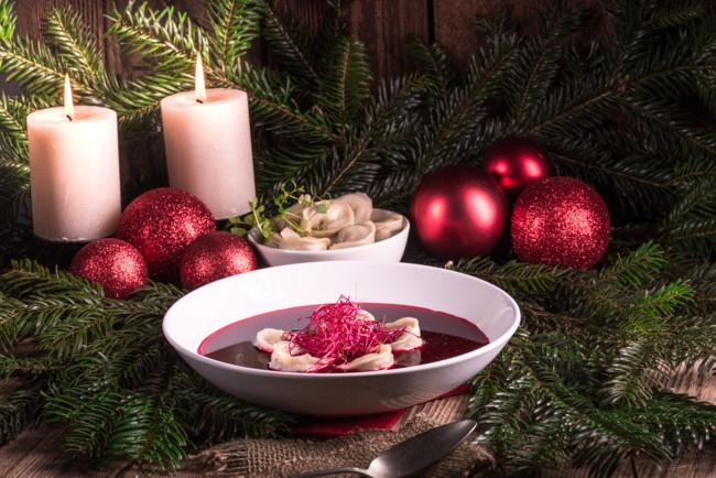 На Рождество готовят постный борщ или капустняк