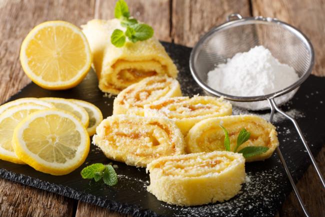 Лимонный рулет