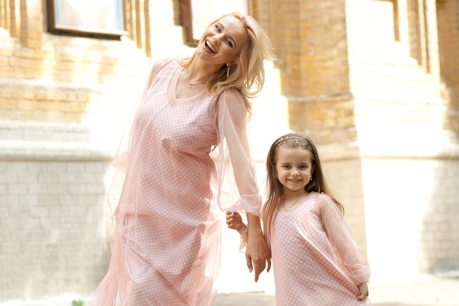 Лилия Ребрик  с дочерью Дианой