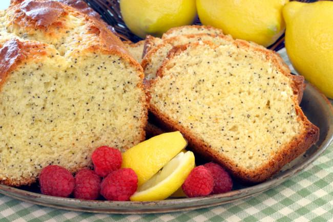 Лимонный кекс с медовой пропиткой