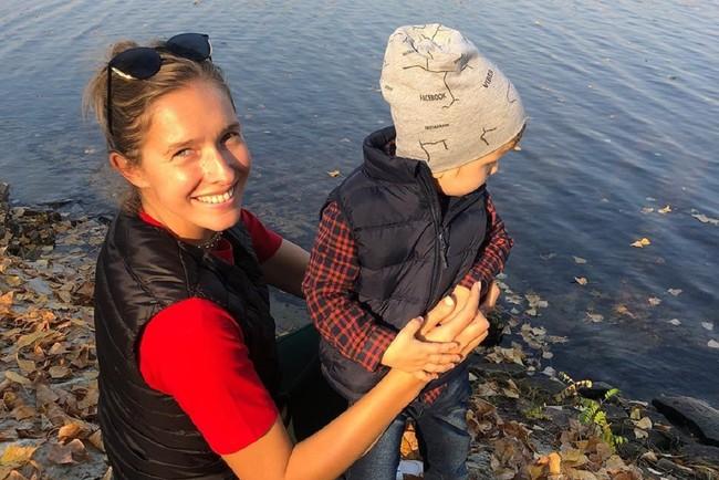 Катя Осадчая с сыном Иваном